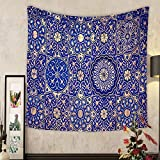 Keshia Dwete Custom tapestry gold and blue ceiling in a muslim mosque islamic traditional religious ornament