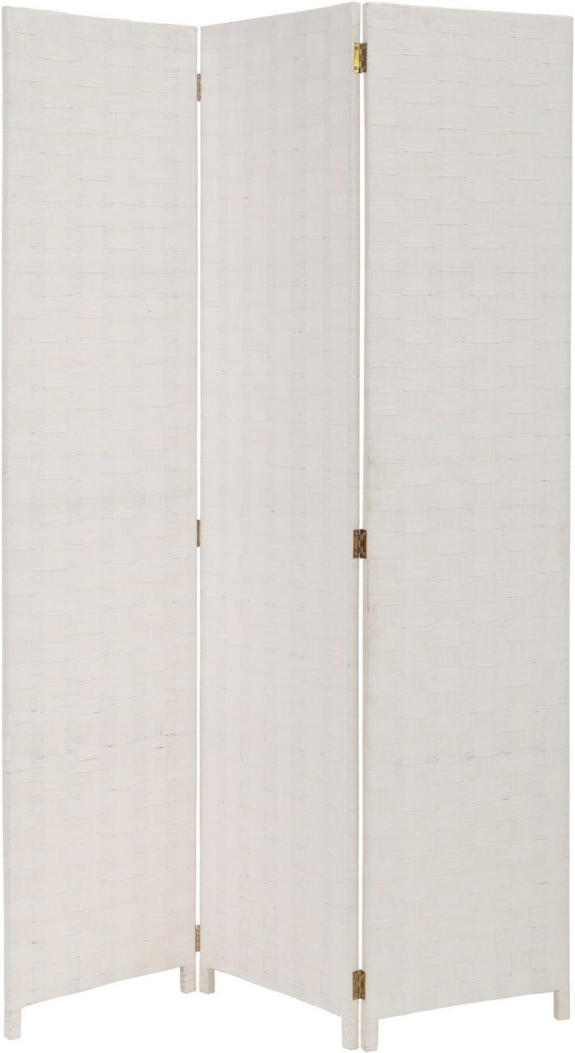 Lola Derek Biombo plegable oriental blanco de madera para salón Vitta: Amazon.es: Hogar