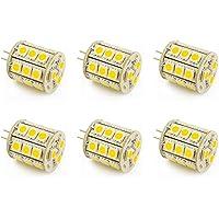 Pack of 6 G4 Bi Pin Lamp Capsule Shape 5W LED Light Bulbs 2Pin AC DC 12V 24V Low Volt Lighting System Replacement for JC…