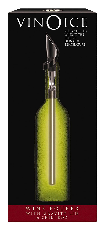 Cork Pops VinOice In Bottle Wine Chiller And Pourer, Silver Inc. 00988