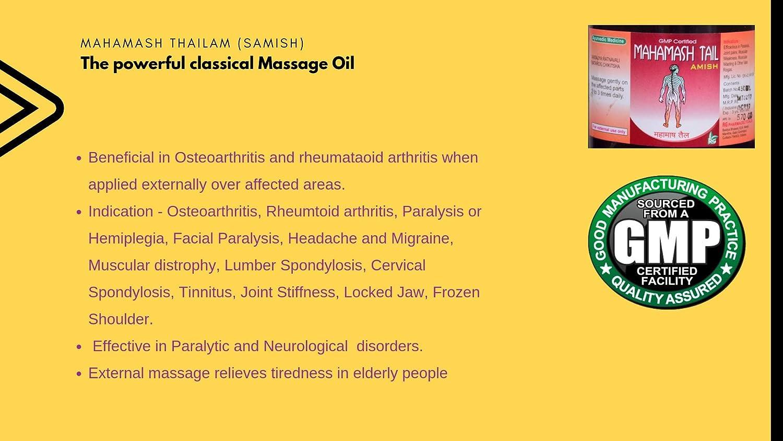 Buy Mahamash NeuroActive Massage Oil Amish 900 ml, Restores