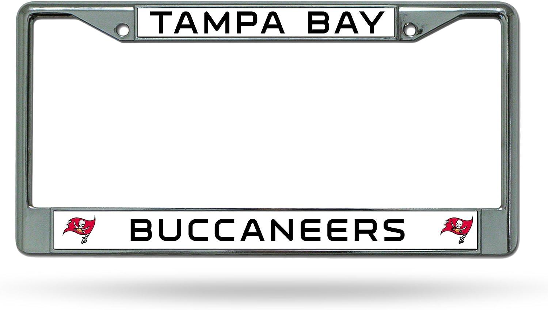 Rico Tampa Bay Buccaneers NFL Chrome Metal License Plate Frame