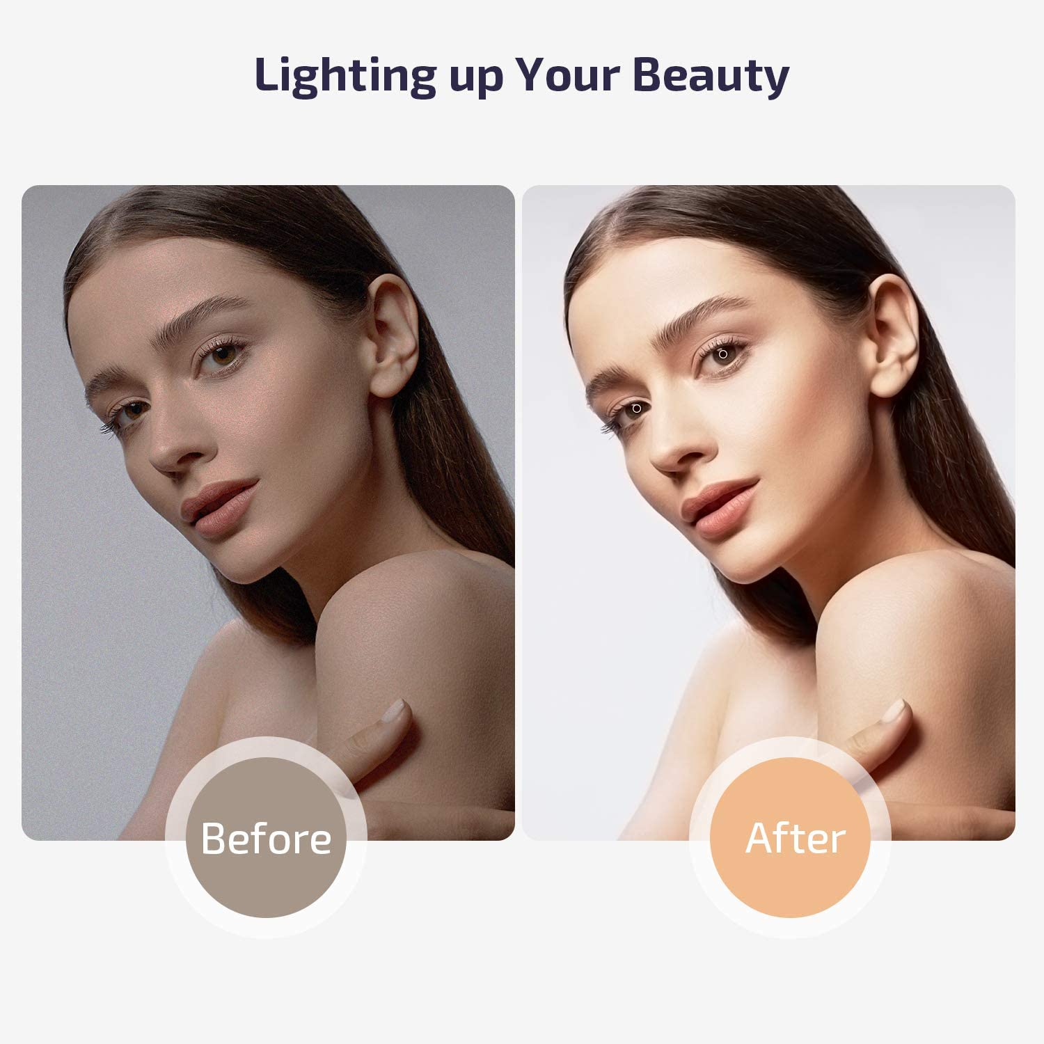 10-inch Led Ring Light with Tripod Stand & 2 Phone Holder,LETSCOM Dimmable Desk Selfie Ringlight for Makeup YouTube Video Live Streaming Photography,3 Light Modes & 10 Brightness Levels