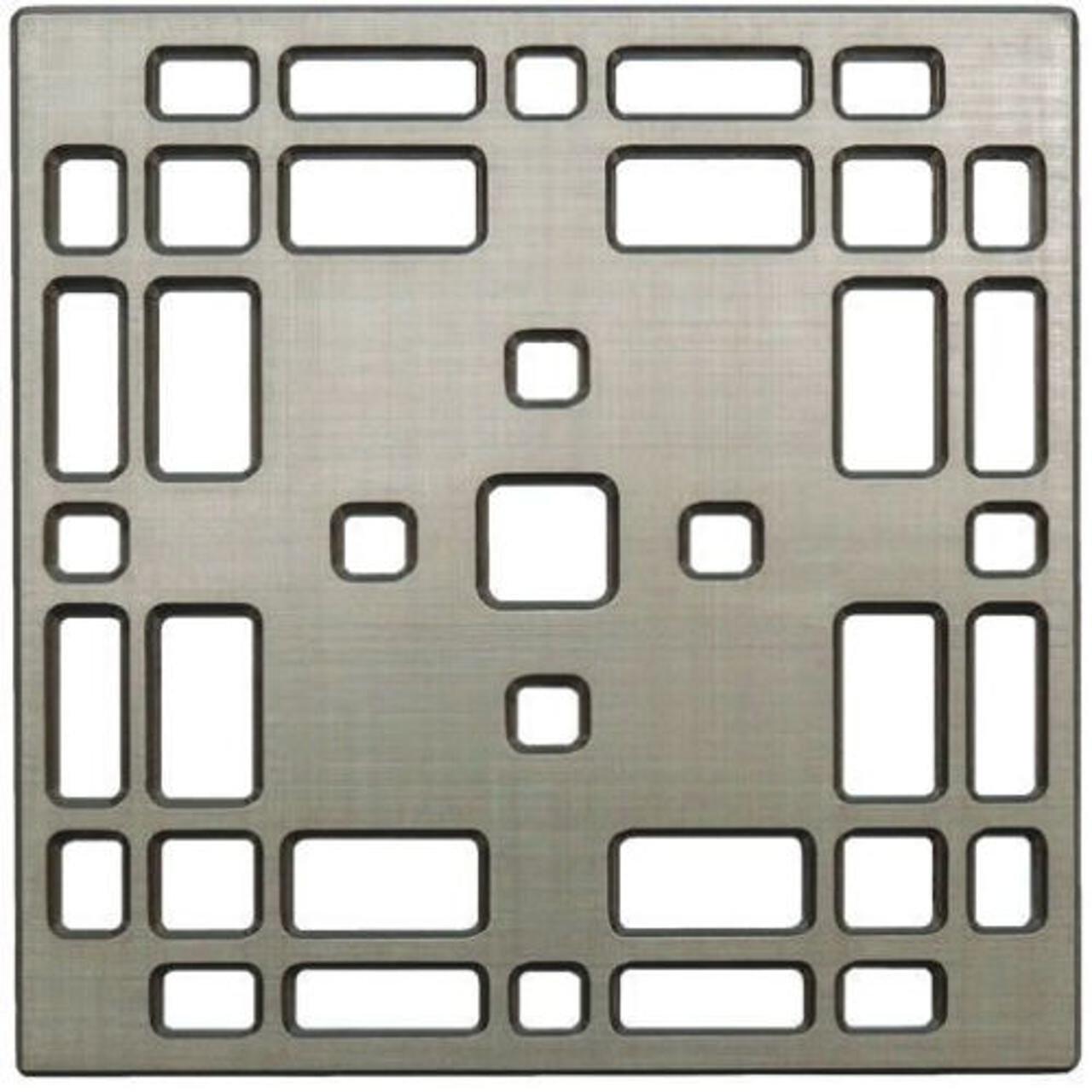 E4801-BN Praire Decoratve Drain Grate, Brushed Nickel