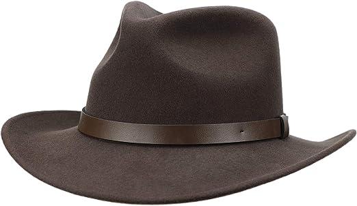 Autumn Winter Fashion Men Women Western Style Wide Brim Wool Cowboy Hat 7 1//4