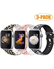 Zekapu Correa Compatible con Apple Watch 38mm 42mm 40mm 44mm para Mujer Hombres, Durable Impermeable