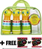 Melissa & Doug Giddy Buggy Bowling Set: Sunny Patch Outdoor Play Series & 1 Scratch Art Mini-Pad Bundle (06685)