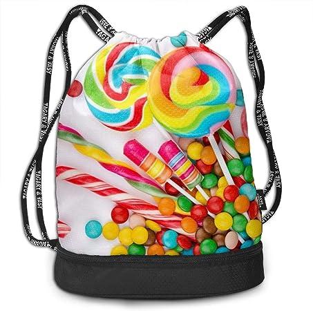 frewe Mochila Drawstring Bag Bundle, Sweet Candy Backdrop ...