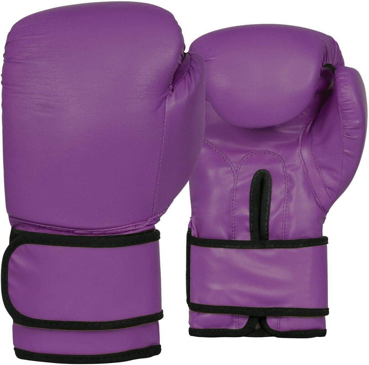 Color Morado Met-X Guantes de Boxeo para Mujer