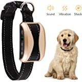 VegasDoggy Bark Collar [2018 Smart Chip] Dog Shock Anti-Barking Collar with Beep, Vibration and Harmless Shock Rechargeable No Bark Control for Small/Medium/Large Dogs with 7 Sensitivity Levels