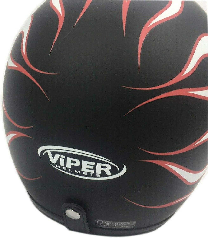 Viper RS-V06 Casque de moto avec visi/ère Motif flamme