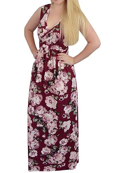 Verano Mujer Embarazada Vestido Mujeres Casual Impresión Maxi Vestido de Playa Moda Cuello V Sin Mangas Vestidos de Partido Cóctel Fiesta Ceremonia: ...