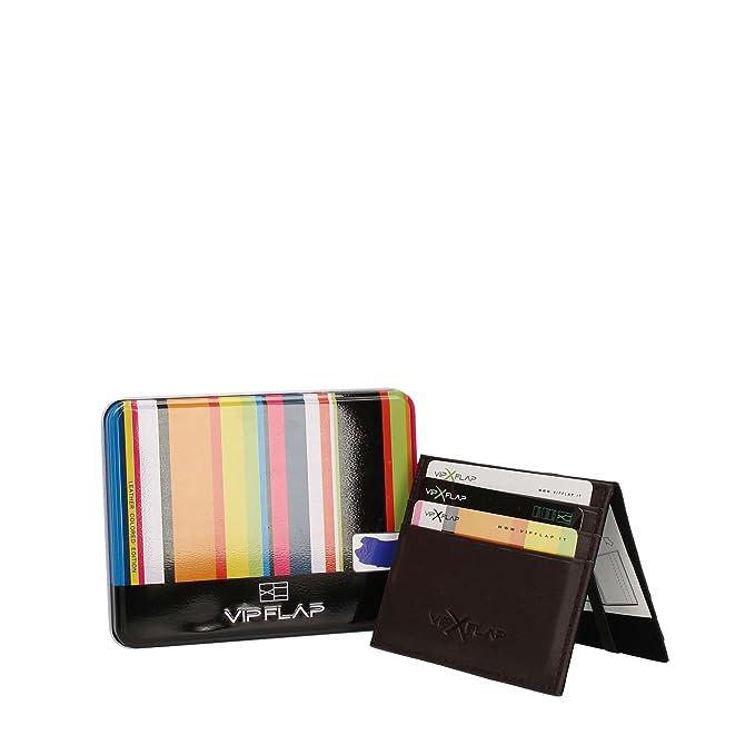 336ba365f1 Vip Flap Portafoglio Porta Carte Linea Leather Colored Edition (BLU CHIARO)