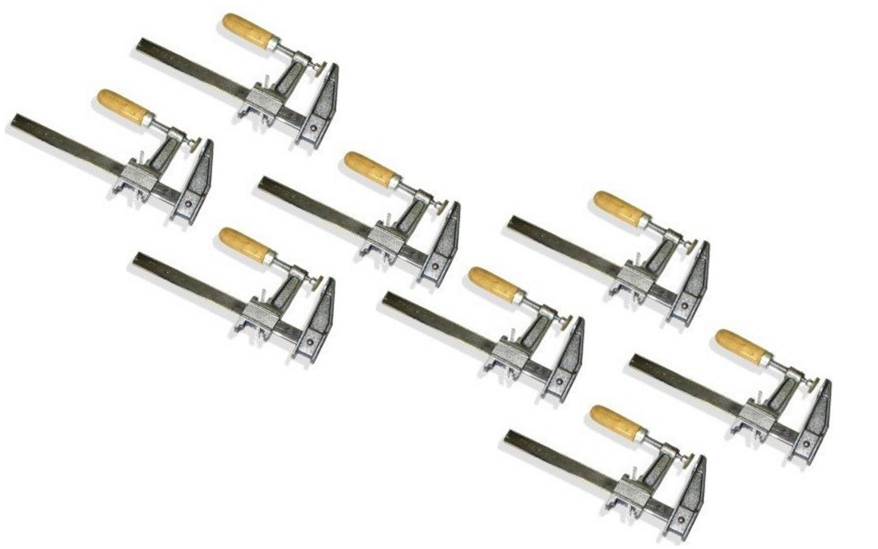 Set of 8 12'' Inch Bar Clamps Heavy Duty Woodworking Wood Carpenter Tools