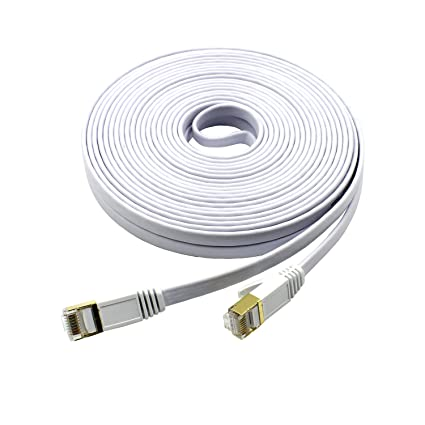 Mcsher Cat7 Ethernet Patch Network Cable Shielded (STP) Copper LAN Internet Wire with Gold