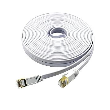 Mcsher Red Cable de conexión Ethernet Cat7 blindado (STP) cobre LAN Internet Cable con