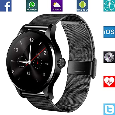 BANAUS B4 Newest SmartWatch with Bluetooth 4.0 Support Heart Rate Monitor for Android Samsung Galaxy S4/S5/S6/S7/Note3/Note4/Note5/Note6 Sony LG ...