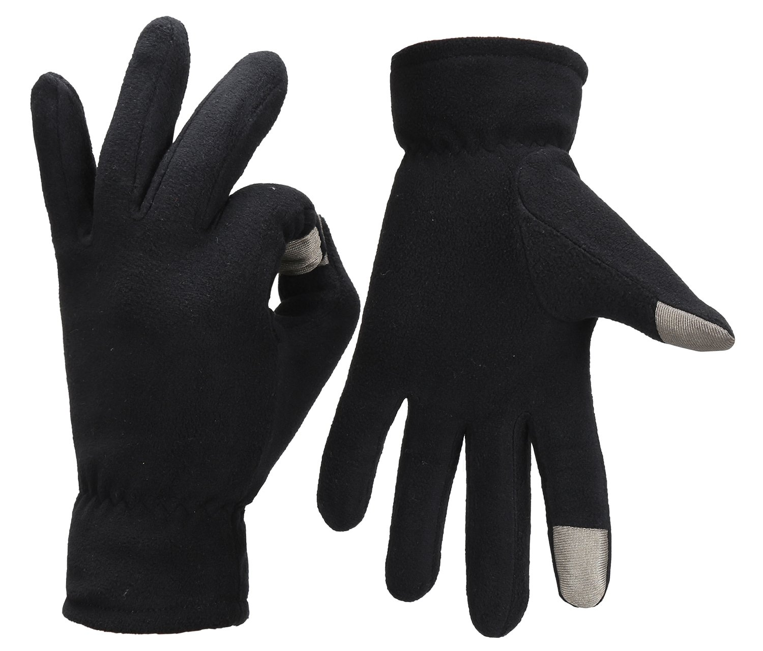 Fantastic Zone Winter Warm Fur Touch Screen Gloves for Men, Cold Weather Windproof Thermal Men Gloves for Smartphone Texting,Cycling,Riding,Running,Skiing,Outdoor Sports