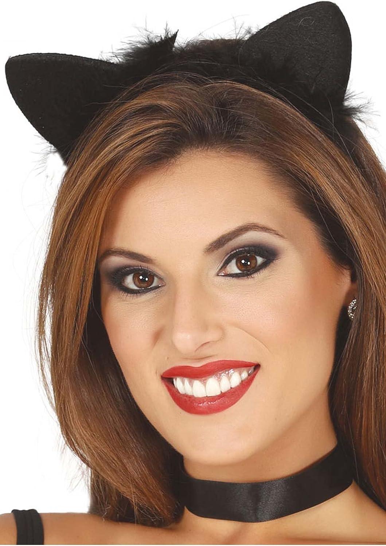 Disfrazjaiak Diadema de gato para disfraz de Halloween para mujer ...