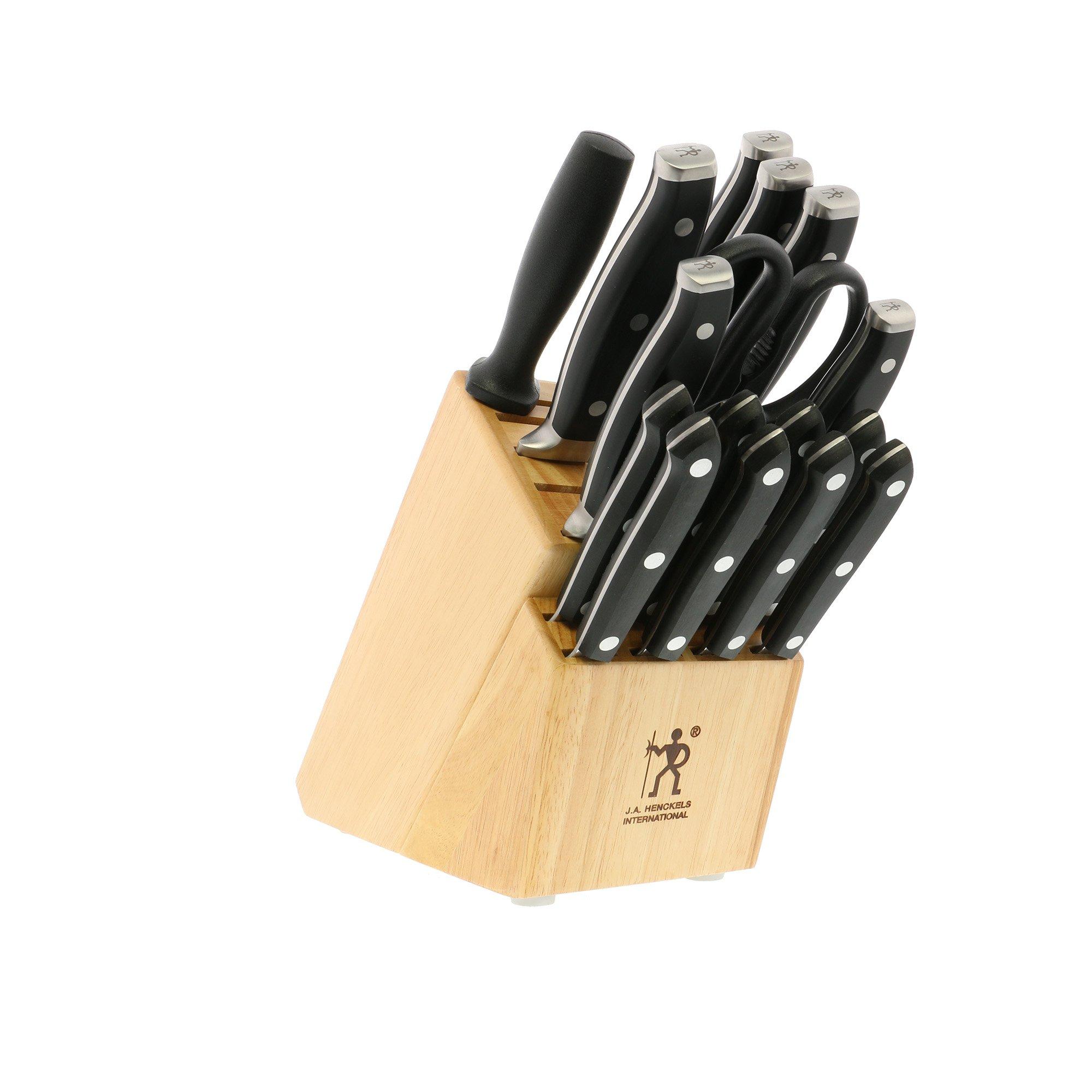 J.A. HENCKELS INTERNATIONAL Forged Premio 17-Piece Block Knife Set