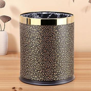 Home   Trash Box ZWD Kreative Mülleimer, Doppelschicht Edelstahl Mülleimer  Ohne Abdeckung Haushalt Wohnzimmer Schlafzimmer