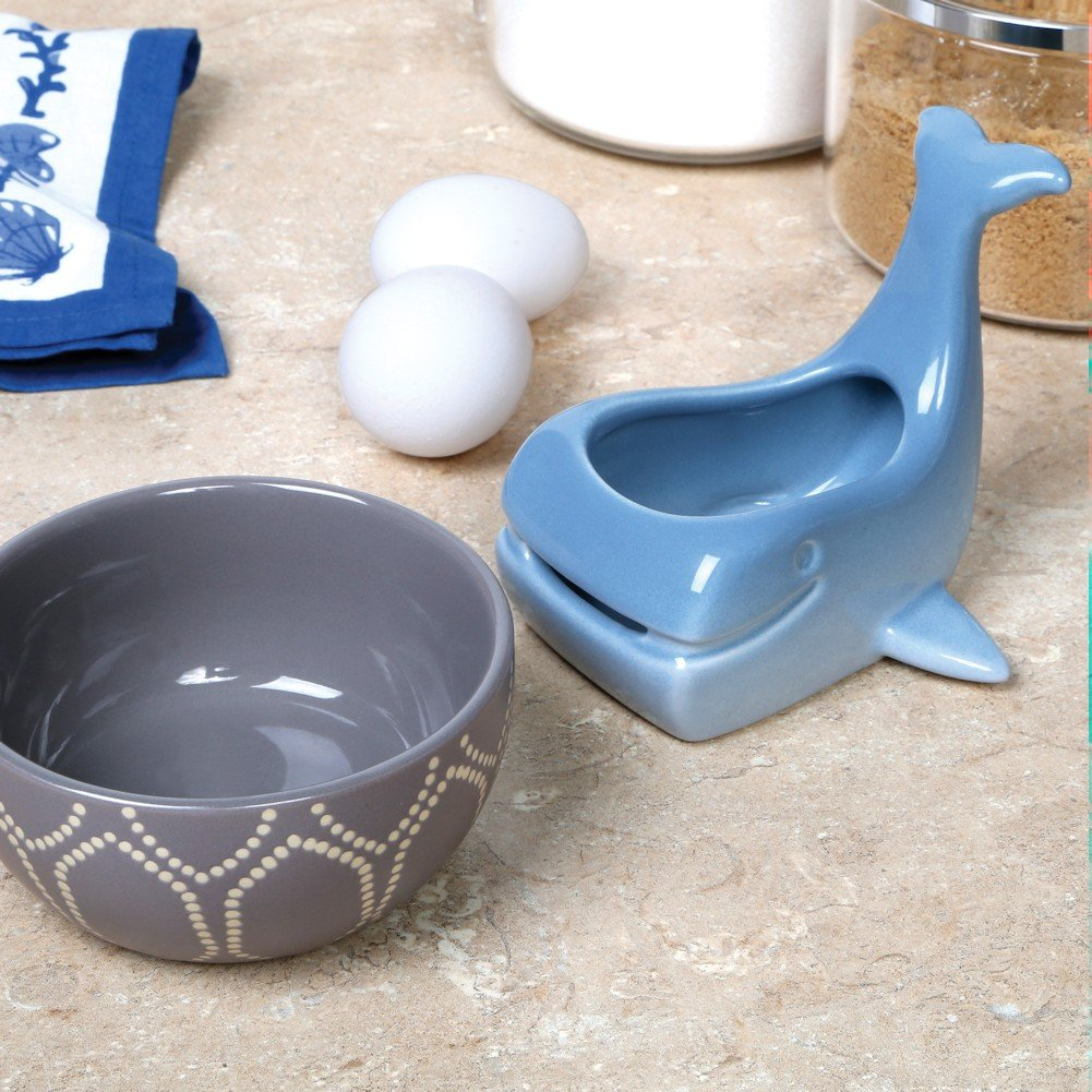 Stoneware Whale Shaped Ceramic Egg Separator by WHAT ON EARTH (Image #2)