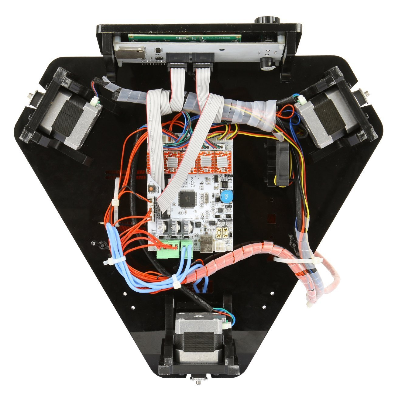 Ridgeyard 220V Delta 3D impresora Kossel kit Rostock 3D impresora ...