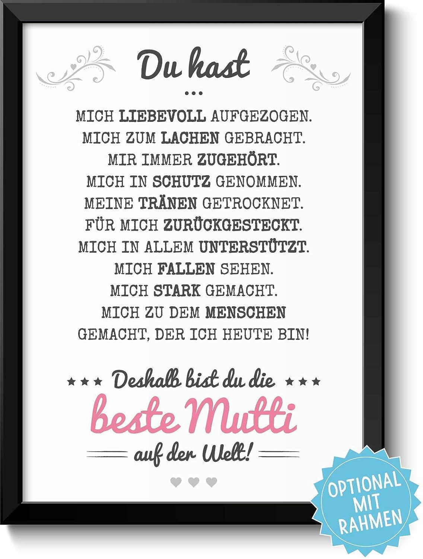 Beste Mama Bild - optional mit Rahmen & Personalisierung - Geschenk ...
