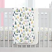 Carousel Designs Pink Woodland Mountains Crib Blanket