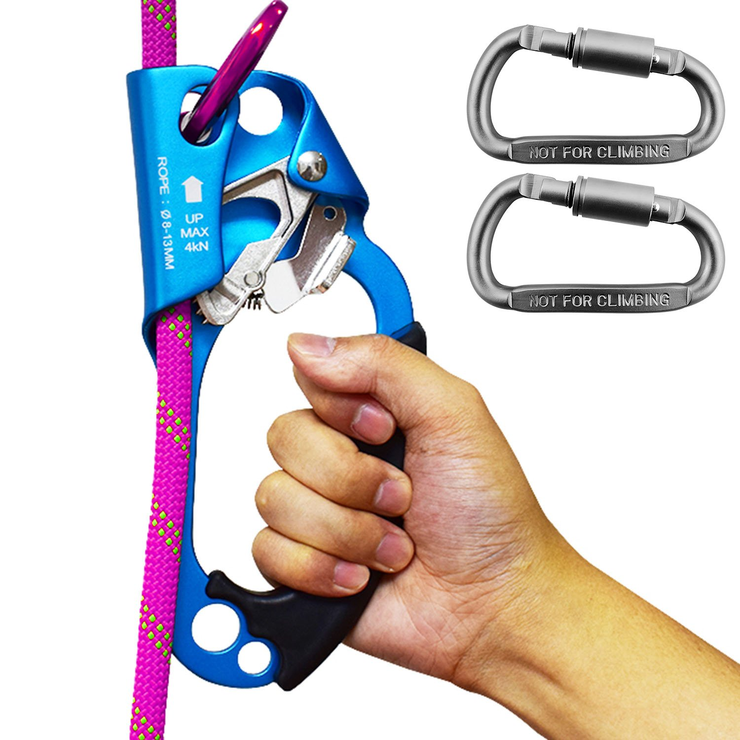 Amazon climbing hand ascender right with ce and uiaa amazon climbing hand ascender right with ce and uiaa certifications for 813mm rope one climbing ascender and two carabiners blue sports 1betcityfo Choice Image