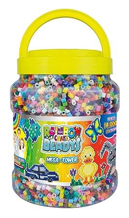 CRAZE 52588 – Rainbow beadys Cuentas Mega de Tower. Aprox. 14.000 Perlas