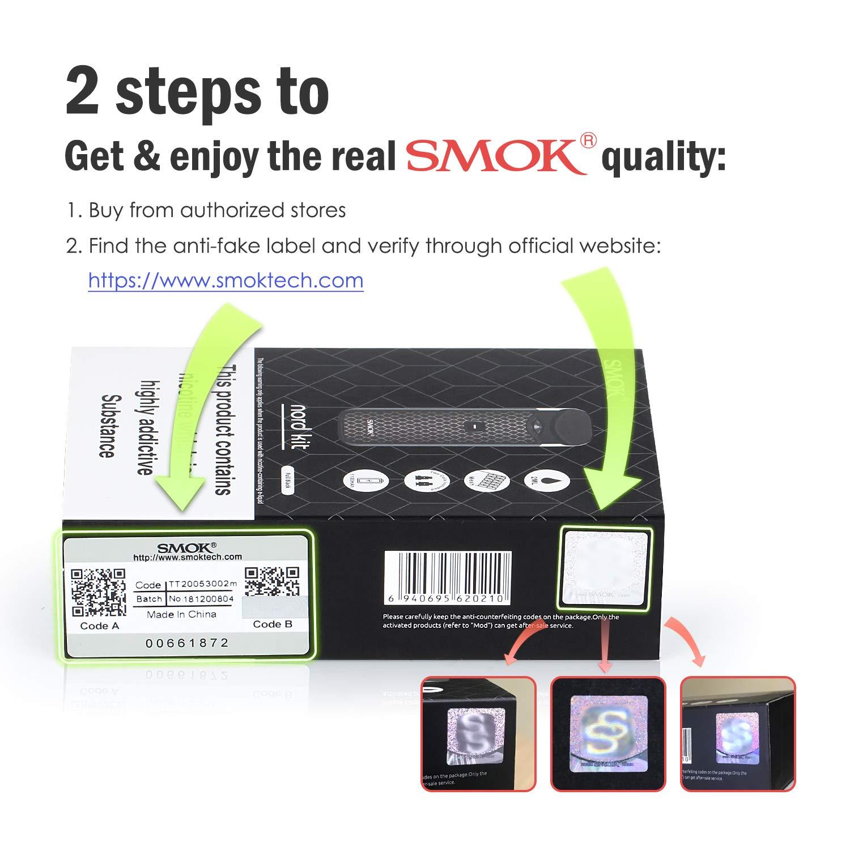 SMOK Nord Vapeador Cigarros Electronicos Kit de inicio, E Cig 2ml MTL Pod System, Batería Recargable 1100mAh Baper Cigarrillos, Sin Nicotina y Sin ...