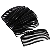 Dovewill 12 Pieces Women Practical Plastic Comb Hair Clip Clamp 29 Teeth 11 x 4.5cm