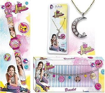 SETS de la joyería SOY LUNA - 1 PULSERA SOY SOY LUNA +1 RELOJ SOY LUNA +1 collar SOY LUNA de regalos: Amazon.es: Juguetes y juegos