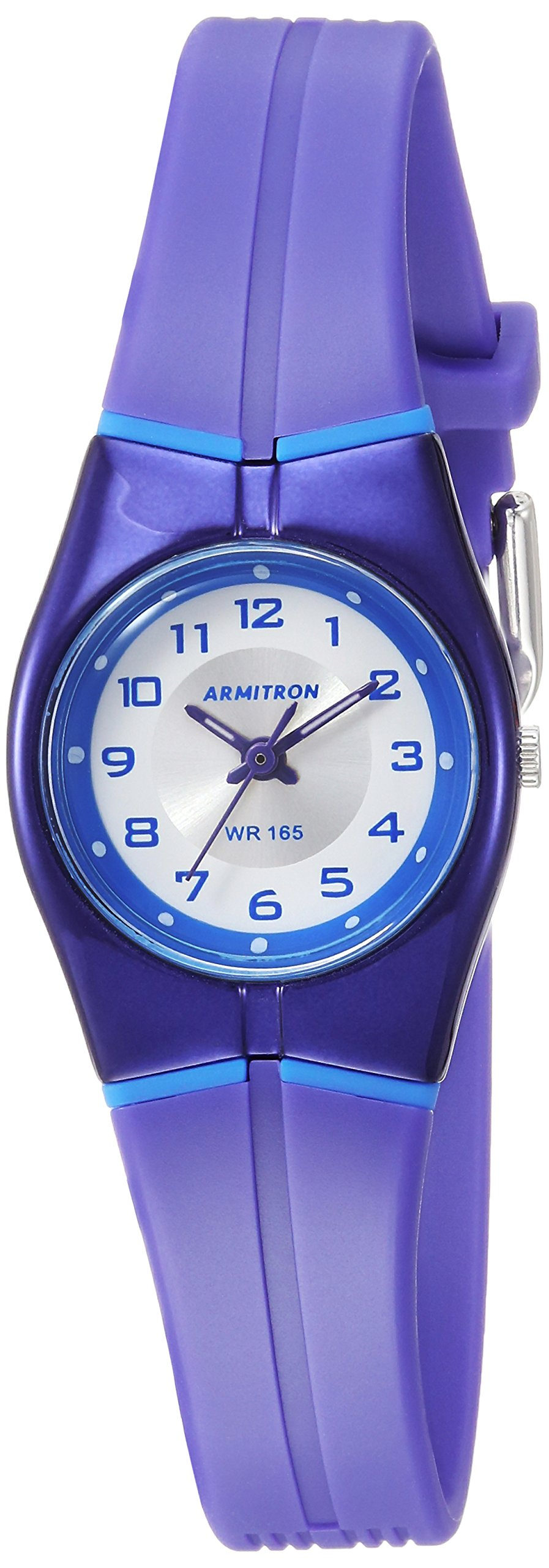 Armitron Sport Women's 25/6355PUR Easy to Read Dial Purple Resin Strap Watch