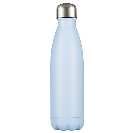 LEVIVO Botella Térmica, Acero Inoxidable, Azul, 7x7x26.7 cm