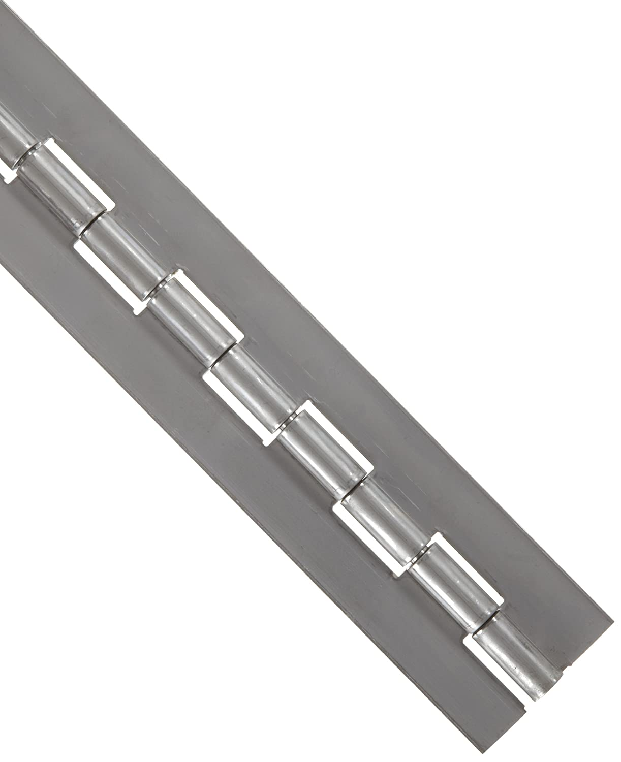 1//4 Pin Diameter Unfinished 6 Long 3 Open Width Pack of 1 Stainless Steel 316 Continuous Hinge without Holes 1 Knuckle Length 0.072 Leaf Thickness