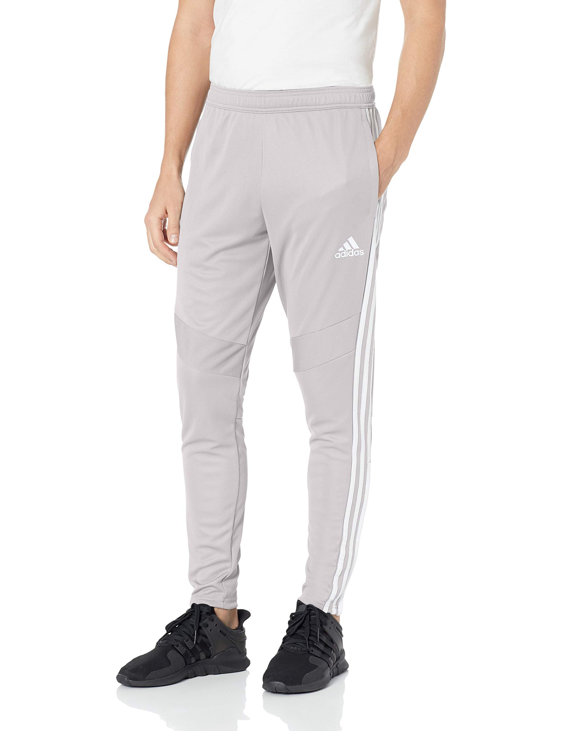 adidas Men's Tiro '19 Pants, WhiteLight GraniteGrey, XX Large