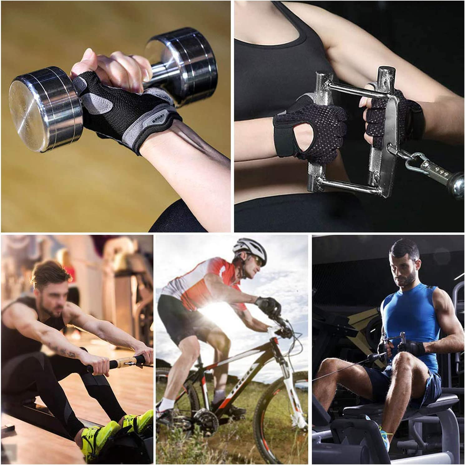 Weight Lifting Gloves for Workout Exercise Training Fitness Qeedy Workout Gloves Gym Gloves with Anti-Slip Leather Palm Bodybuilding for Men /& Women