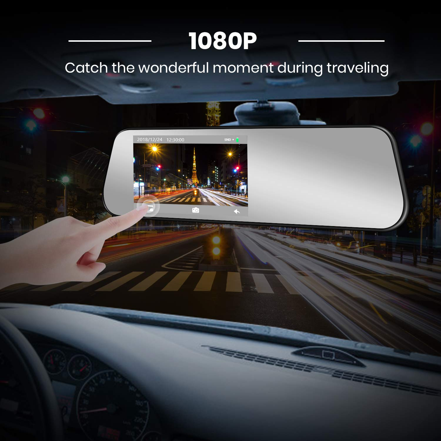 Auto Vox M6b 45touch Screen Backup Camera Dash Cam 2004 F150 Obdii Wiring Harness Ip 68 Waterproof Super Night Vision Rear View With Motion Detection