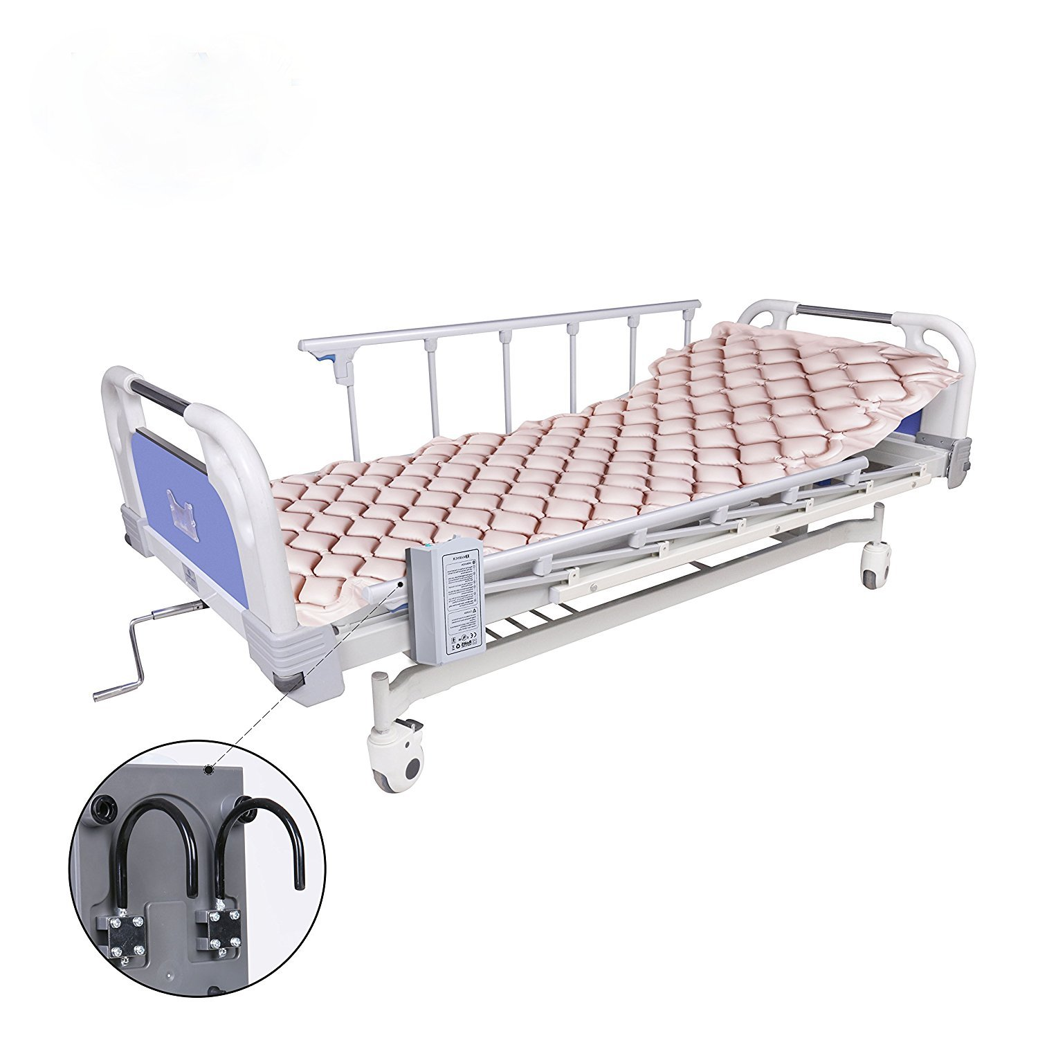 Alternating Pressure Mattress by Dr.Onic - Includes Electric Pump & Mattress Pad - Inflatable Bed Pad for Pressure Ulcer and Pressure Sore Treatment ISO CE Product
