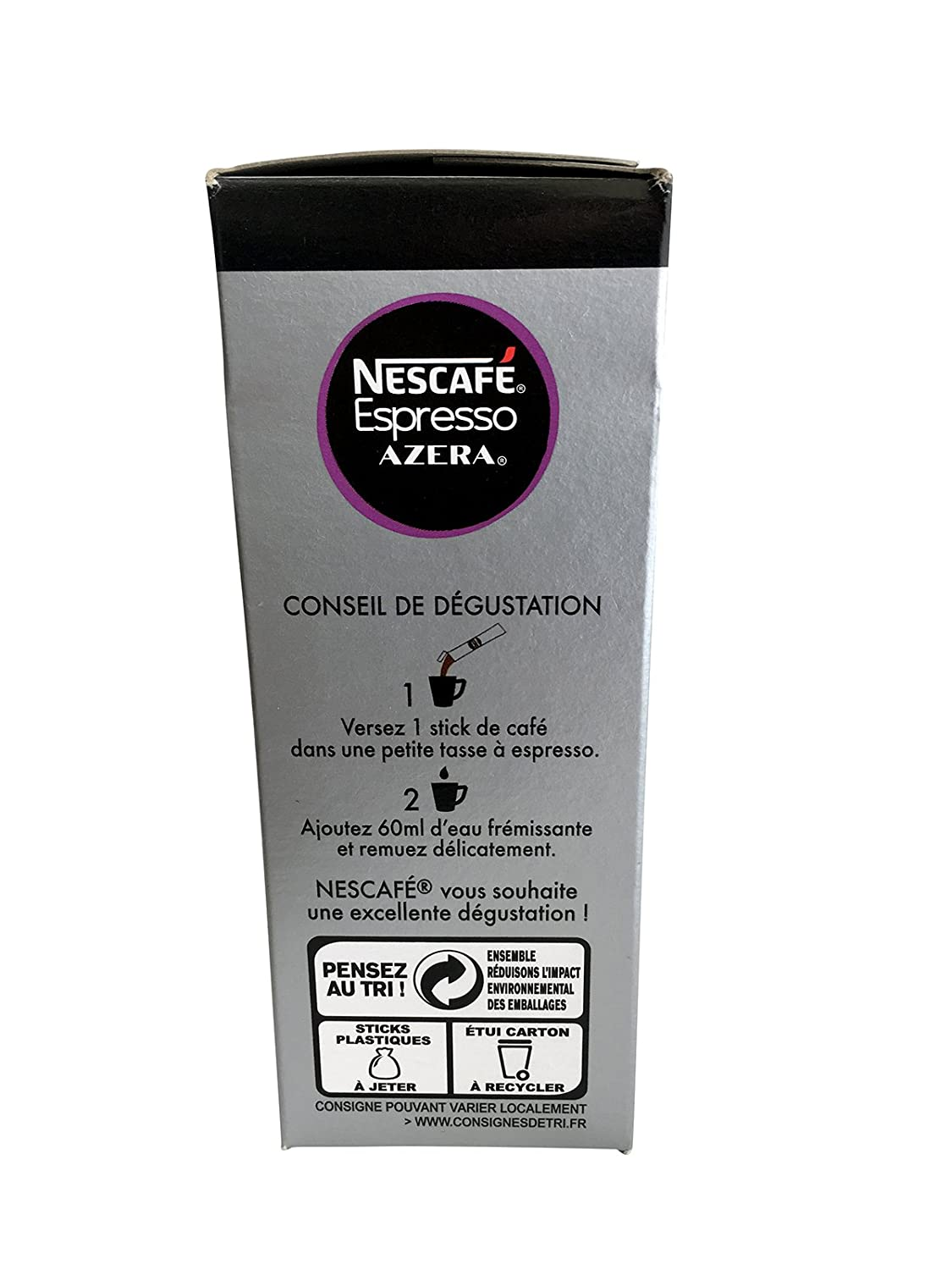Amazoncom Nescafe Instant Coffee Espresso 25 Stick Pack Grocery