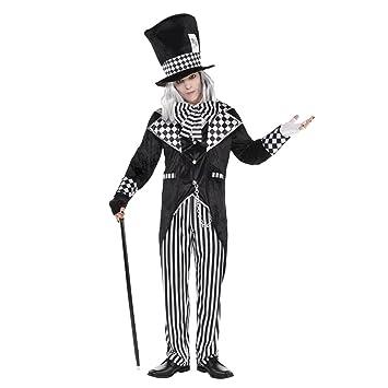 85bf474ff1fd M/L - Adult Mens Dark Mad Hatter Tea Party Fancy Dress Costume Black and