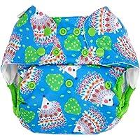 Blueberry Capri cubrepañales–hedgehogs (druc Grava)–One Size (5,5–16kg)–Plástico pañales