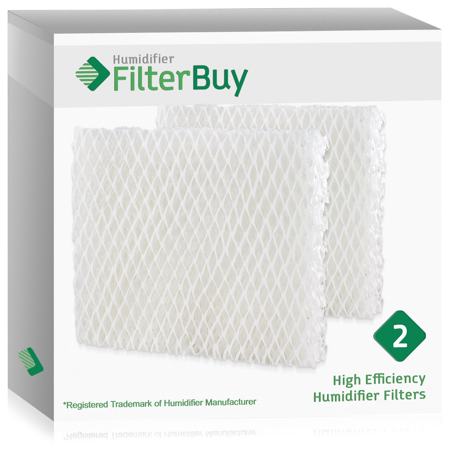 FilterBuy Replacement Humidifier Filters Compatible with Holmes HWF55, Vornado 221, 232, 421, 432, HU1-0021. Pack of 2.