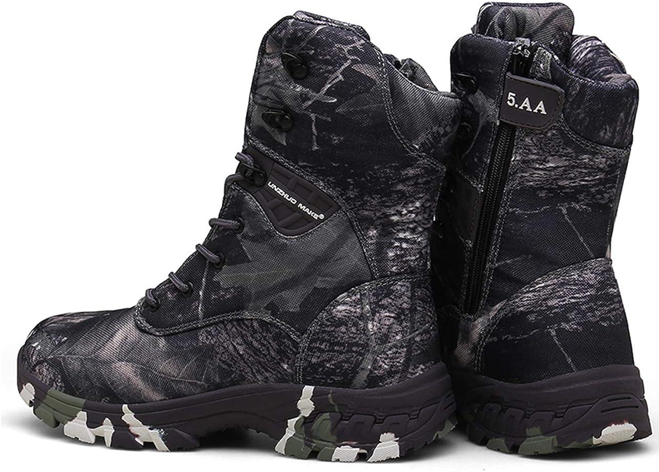QJRRX Hombre Botas Botas de Botas Tácticas Ultra-Ligero Antideslizante Tela de Transpirable Zapatillas de Deporte de Alta Escalada Impermeables y Militares 39-47: Amazon.es: Zapatos y complementos