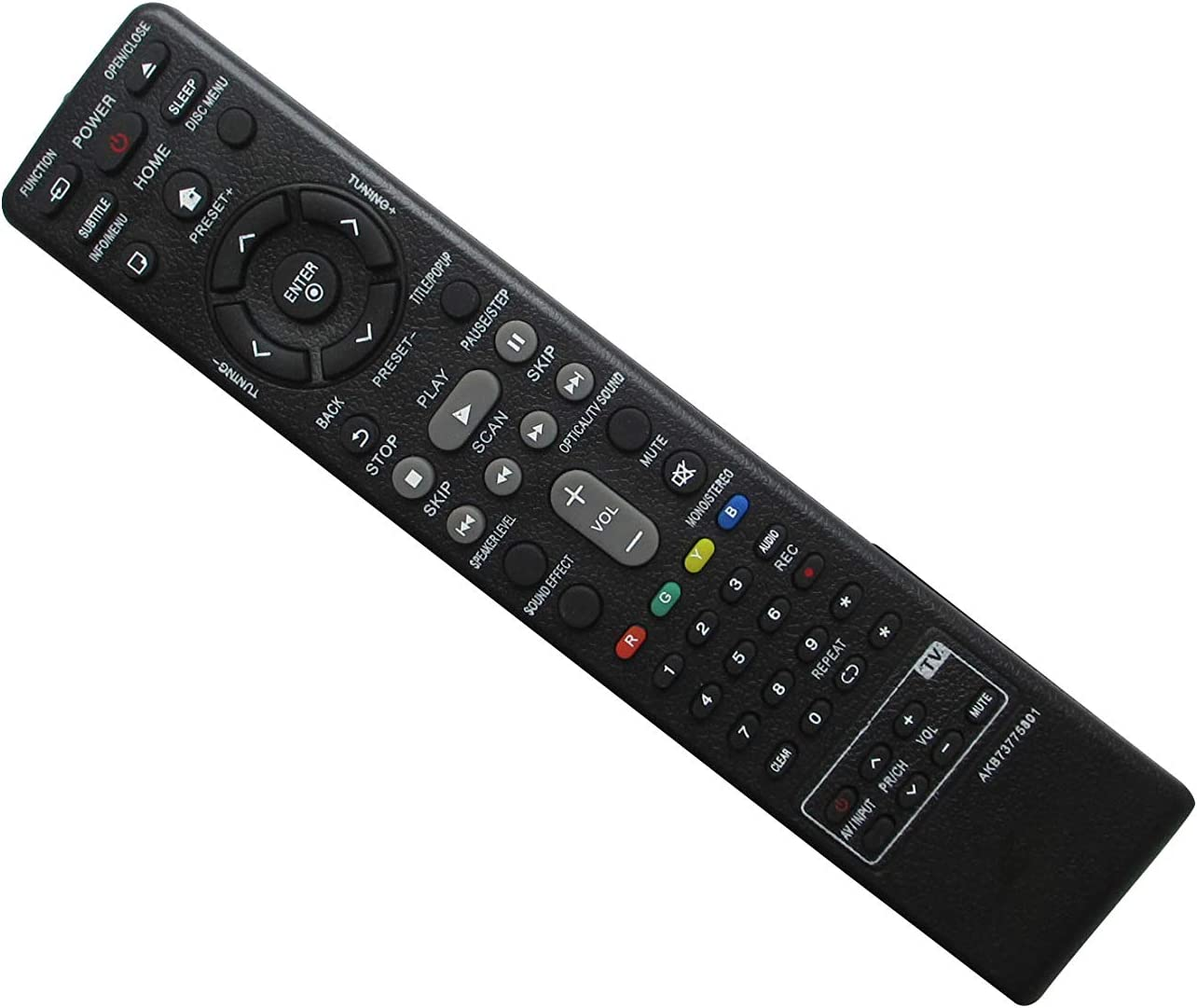 HCDZ Replacement Remote Control for LG Zenith 6710CDAL01C DVT412 6710CDAL01B DVT418 DVT312 DVT310 ZHD-311 DVD Player Home Theater System