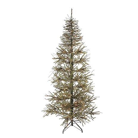 Amazon.com: 7' Pre-Lit Slim Warsaw Twig Artificial Christmas Tree ...