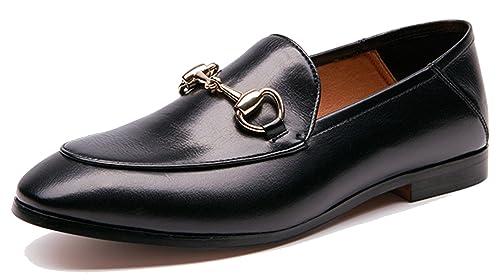 c6d77406166 U-lite Women s Horsebit-Detailed Leather Loafers  Amazon.ca  Shoes ...