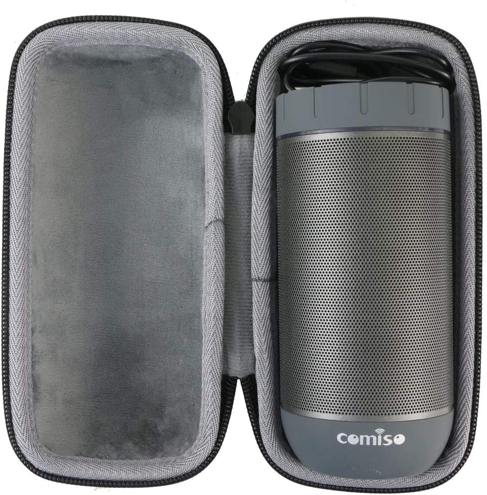 co2crea Hard Travel Case for COMISO Waterproof Bluetooth Speakers Outdoor Wireless Portable Speaker Black Case